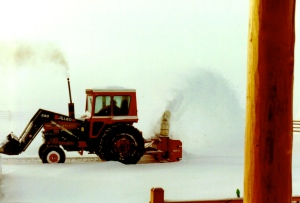 WY. Snow Blowing Drifts